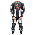 (CLEARANCE SALE) - Arlen Ness Shield CE One Piece Mens Leather Suit - Black/White