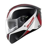 (CLEARANCE SALE) - Shark SKWAL Helmet - Spinax Black/White/Red