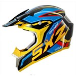 (CLEARANCE SALE) - Shark SX2 Dooley MX Helmet - Black/Blue/Yellow