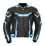 (CLEARANCE SALE) - Berik Tech Ce Leather Jacket - Black/Blue