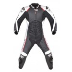 (CLEARANCE SALE) - BERIK MENS BIG LEAGUE 1 PIECE LEATHER SUIT - Black/White