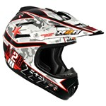 M2R X-2.5 COMBAT MX HELMET - RED