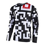 (CLEARANCE) TROY LEE DESIGNS 2018 GP AIR MAZE JERSEY WHITE/BLACK