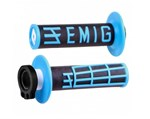 ODI EMIG MX LOCKON GRIPS 4S BLACK/BLUE