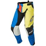(CLEARANCE SALE) - Alpinestars 2016 TECHSTAR FACTORY PANTS - BLUE/FLUO YELLOW