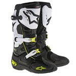 (CLEARANCE) ALPINESTARS TECH 10 BOOTS - WHITE/BLACK/FLURO YELLOW