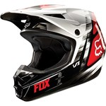 (CLEARANCE) FOX 2015 YOUTH V1 VANDAL MOTOCROSS HELMET - RED