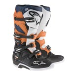 Alpinestars 2017 Tech 7 Motocross Boots (Black/Orange/White/Blue)