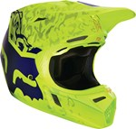 (CLEARANCE SALE) - FOX 2016 V3 CAUZ HELMET - YELLOW