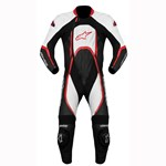 (CLEARANCE SALE) - Alpinestars Orbiter 1-Piece Leather Suit (Black/White/Red)