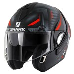 Shark Evoline Series 3 ECE Shazer Matte Black/Red/Silver Helmet