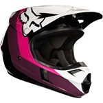 FOX 2018 V1 HALYN ECE HELMET - BLACK/PINK