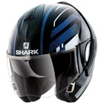 Shark Evoline Series 3 ECE Corvus Black/White/Blue Helmet