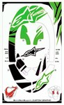 Alpinestars BNS Graphics Kit - Green/Black