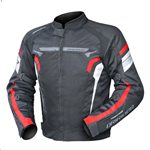DRIRIDER Air Ride 4 Textile Jacket - Black/Red