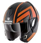 Shark Evoline Series 3 ECE Corvus Matte Black/Orange Helmet