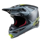 Alpinestars Supertech S-M10 Carbon Meta Helmet - Black Grey / Fluro Yellow