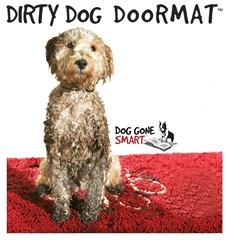 Dirty Dog Doormat, available in 4 colours and 4 sizes