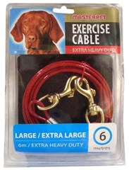 Dog's Tie-Out Exercise Cable