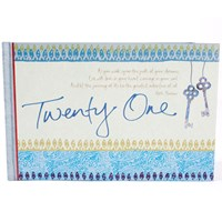 20% OFF: 21st Guestbook Blue