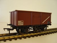 16 Ton Steel Mineral Wagon BR Brown Without Top Flap Doors