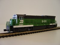 BA61354 Bachmann GE B23/B30-7 Diesel Loco Burlington Northern No5491 (accumate or rapido couplings)