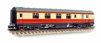 Graham Farish N/Scale Stanier Brake First Passenger Coach BR Crimson & Cream