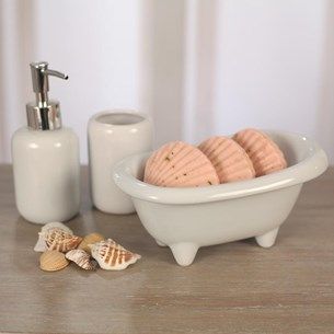 Three Piece Bathroom Set - White