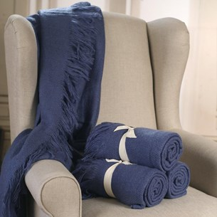 Throw Rug Soft Touch Blue
