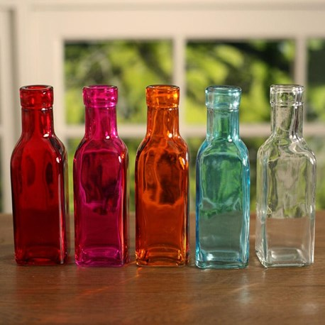 Coloured Bottles Small