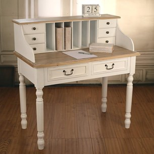 Desk Work Station Antique White - 'Hunter'