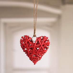 Woven Heart Hanger Mini - Three Colours