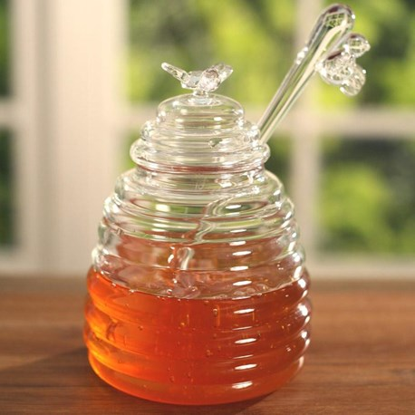 Beehive Honey Pot with Bee Dipper