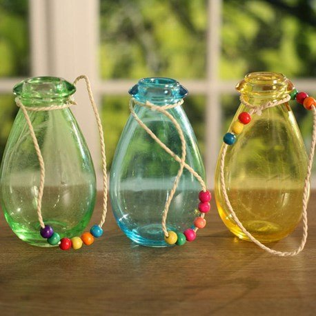 Coloured Hanging Bottles
