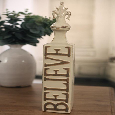 'Believe' Ceramic Canister
