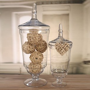 Glass Jars with Pointed Lid - Two Sizes