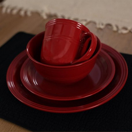 Country Red Dinnerware (One Setting)