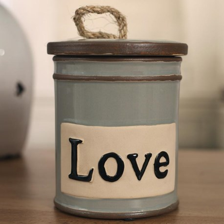 Rope Handle LOVE Canister