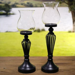 Metal Stem Candle Holder - Two Sizes