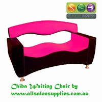 """THE CHIBA"" IN BLACK AND PINK. Funky and modern waiting chairs for reception, salons"