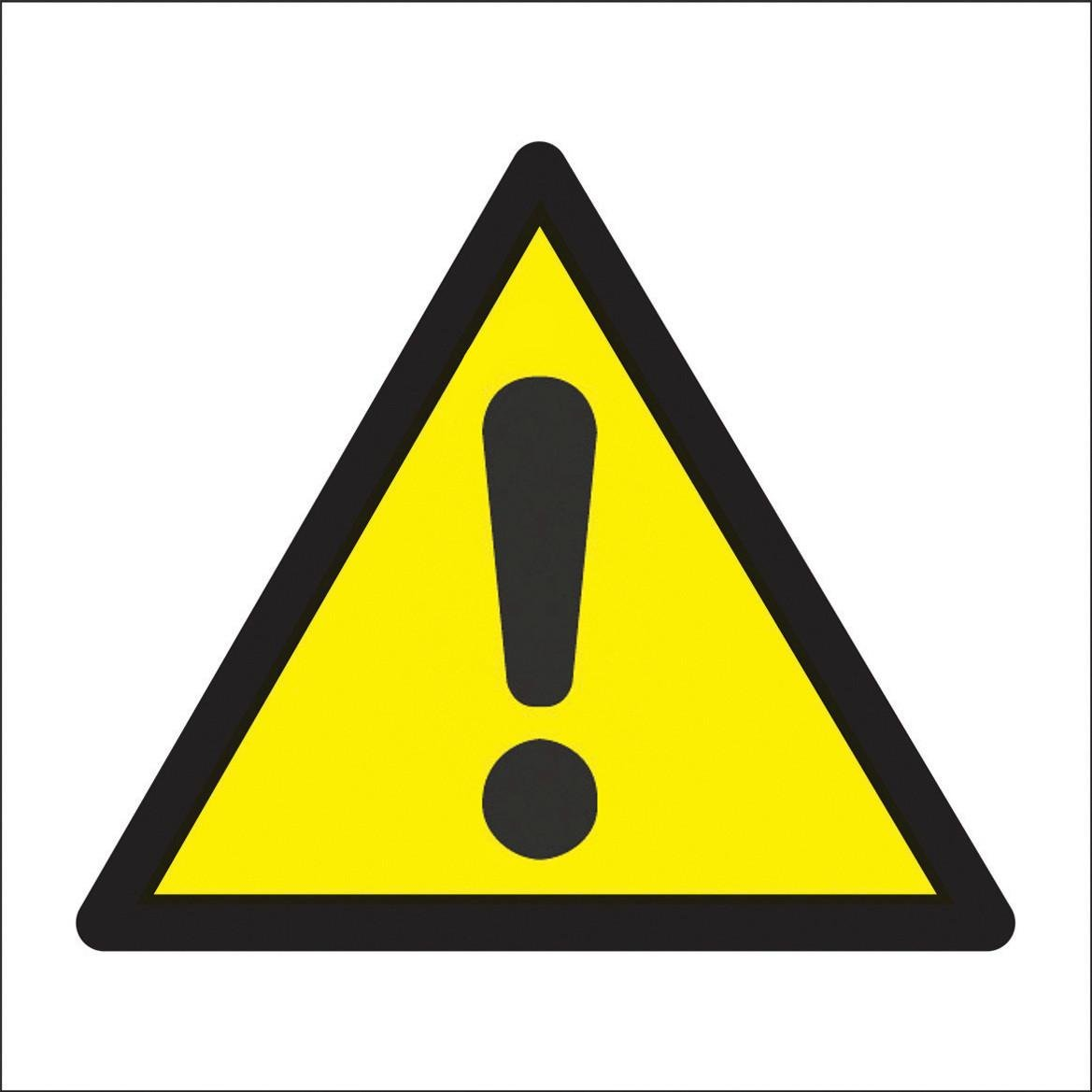 Island In Kitchen Hazard Logo Sign Large 400 X 400hmm Rigid Plastic