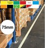 Permastripe Indoor Aisle Marking Tape 75mm - Simply Peel Back The Liner and Press Down - HE-0002-75