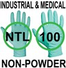 Nitrile - Ansell 92-600 Touch N Tuff Green Powder Free Disposable Gloves - Conforms to EN374 Complex Design - Box of 100 - AN-304575