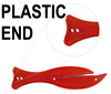 F600 FISH Red Safety Knife - Plastic End - Ultimate Value - Ideal for Light Warehouse Use - [KC-F600CH]