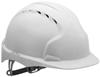 JSP - The All New EVO2 - Vented White Safety Helmet - One Touch Slip Ratchet Harness - EN397 - [JS-AJF030-000-100]