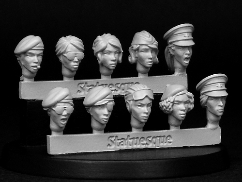 New Release Heroic Scale Female Heads Narrow - Veterans on sale and restocks at 10% off!