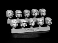 SMA307 Heroic Scale Female Heads - Angry Bobs