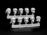 SMA352 Heroic Scale Female Heads NARROW 2