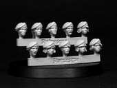SMA103 Fine Scale Female Heads - Berets
