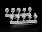 SMA106 Fine Scale Female Heads - Bionic